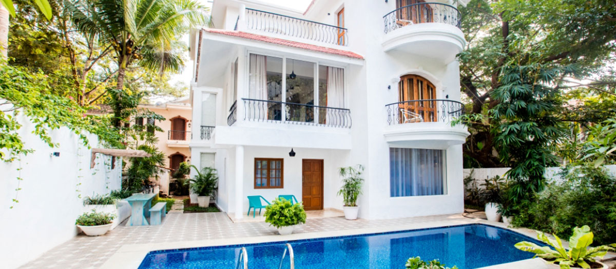5 bedroom presidential pool villa in goa presidential - Guest house in goa with swimming pool ...